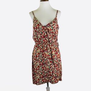 AEO floral faux wrap front cami dress